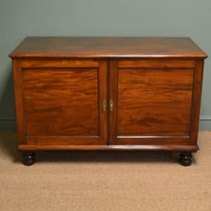 Regency Mahogany Antique Low Press Cupboard