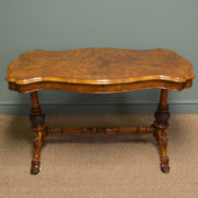 Spectacular Victorian Quality Figured Burr Golden Walnut Antique Side / Centre Table