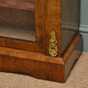 Magnificent Golden Walnut Antique Inlaid Pier Cabinet