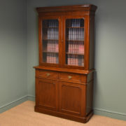 Quality Victorian Mahogany Antique Bookcase on Cupboard