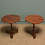 Spectacular Pair of Victorian Mahogany Antique Wine Tables