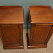 Stunning Pair Of Walnut Maple & Co Antique Victorian Bedside Cabinets