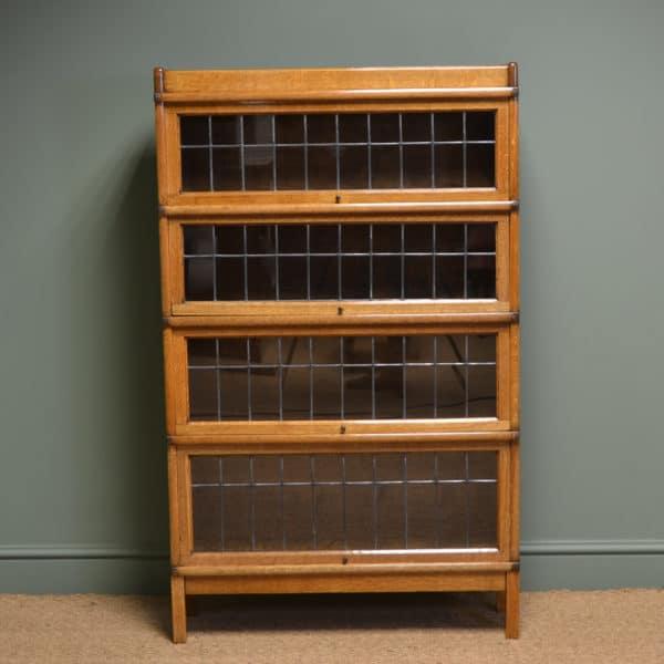 Spectacular Golden Oak Antique Edwardian Globe Wernicke Stacking Bookcase