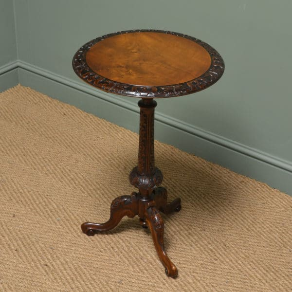 Superb Quality Victorian Walnut Antique Occasional / Lamp Table