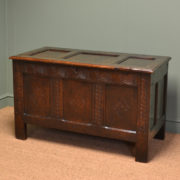 Charming Seventeenth Century Period Oak Antique Coffer