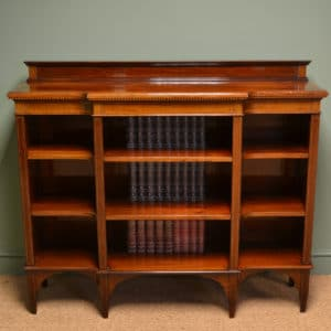 Striking Victorian Solid Mahogany Antique Open Bookcase