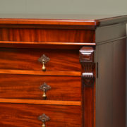 Spectacular Quality Large Figured Mahogany Antique Victorian Wellington Chest