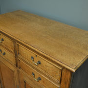 Quality Golden Oak Edwardian Antique Cupboard