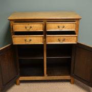 Quality Golden Oak Edwardian Antique Cupboard
