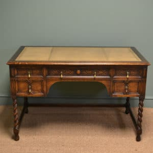 Stunning Waring And Gillows Edwardian Antique Oak Desk