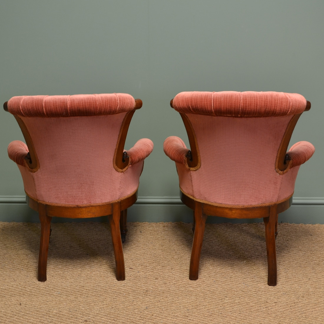 Old Fashioned Bedroom Chairs Stunning Pair Of Victorian Figured Walnut Antique Bedroom Side