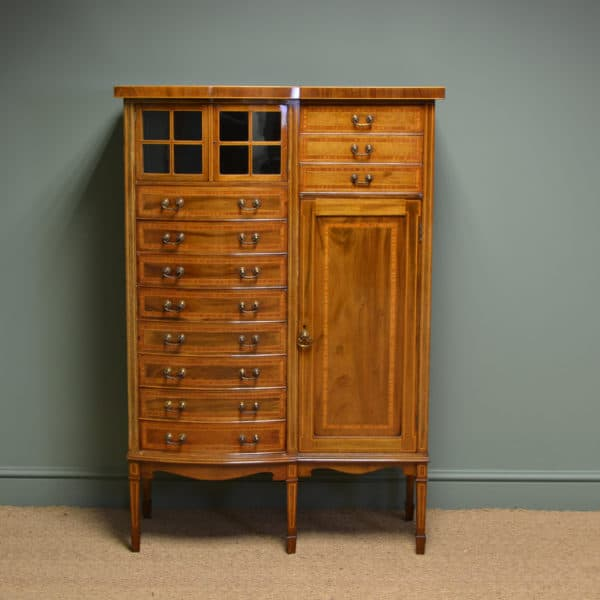 Spectacular Quality Maple & Co Edwardian Antique Music Cabinet