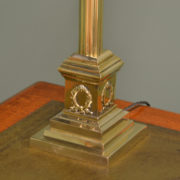 Super Antique Edwardian Brass Lamp Base