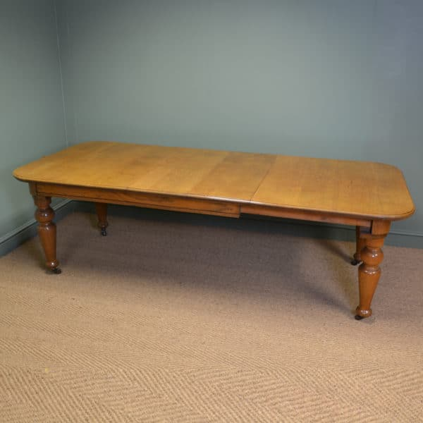 Super Quality Large Golden Oak Antique Victorian Extending Dining Table