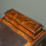 Striking Figured Walnut Antique Victorian Davenport Writing Desk