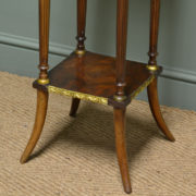 Decorative Edwardian Walnut Antique Plant / Lamp Stand