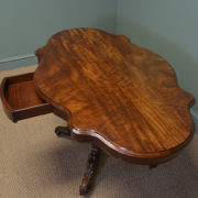 Exceptional Victorian Serpentine Shaped Figured Mahogany Antique Centre Table