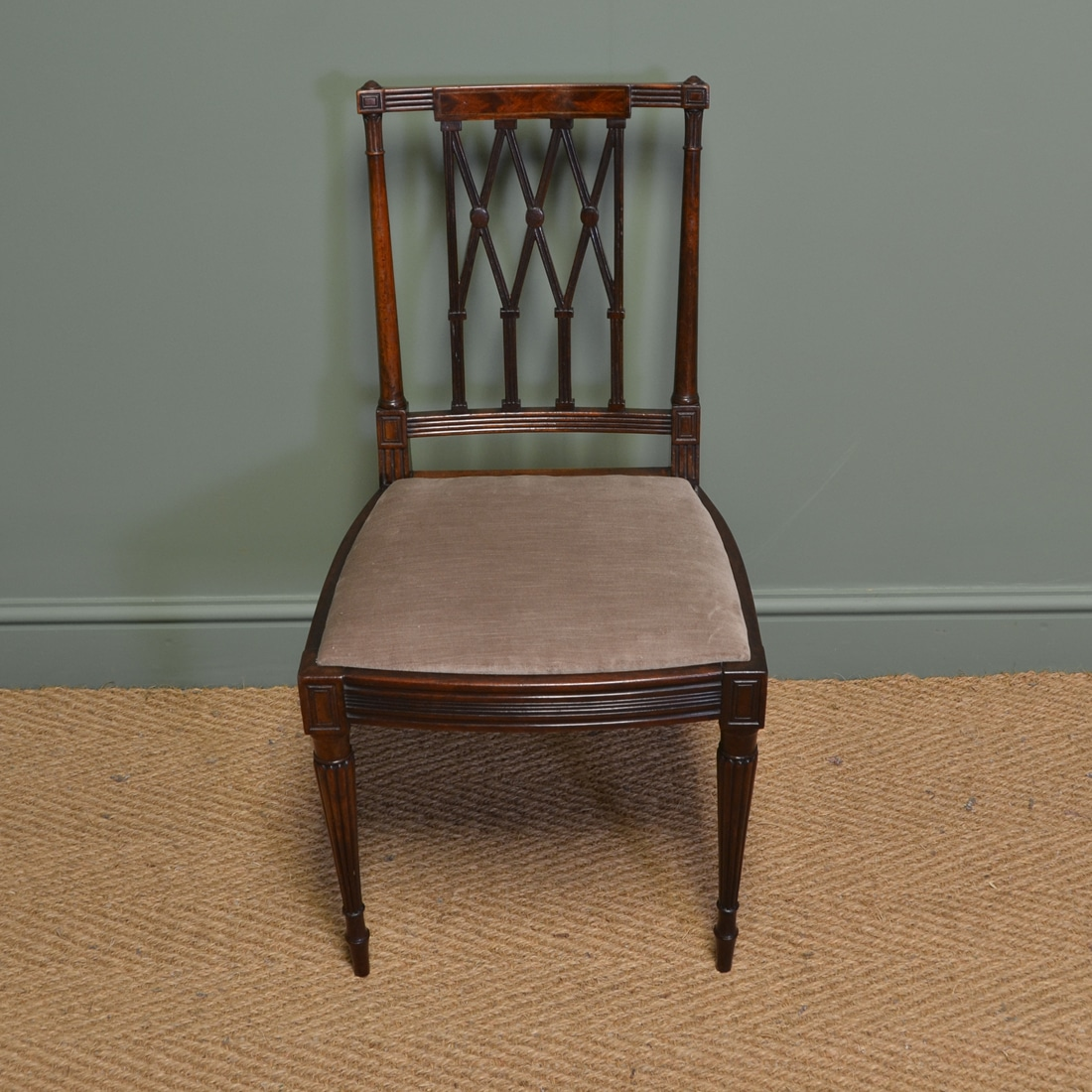 Fine Dining Chairs: Fine Quality Set Of Six Edwardian Antique Mahogany Dining