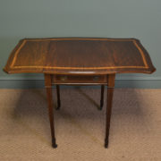 Stunning Quality Edwardian Mahogany Antique Drop Leaf Side Table