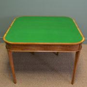 Striking Golden Satinwood Edwardian Antique Side / Card Table