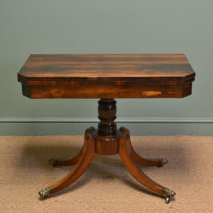 Exceptional Regency Rosewood Antique Games / Console Table