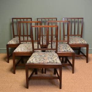 Set of Six Country Georgian Mahogany Antique Dining Chairs