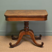 Elegant Regency Mahogany Antique Tea / Side Table