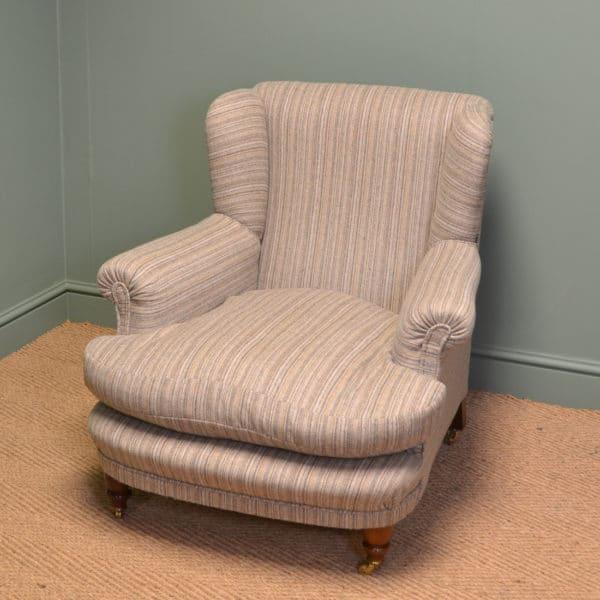 Fabulous Quality Comfortable Victorian Howard Design Antique Arm Chair