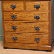Splendid Quality Victorian Shoolbred Antique Walnut Chest Of Drawers