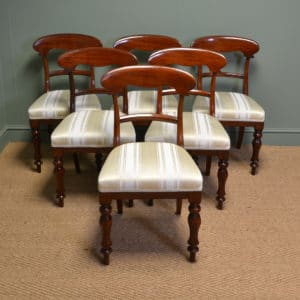 Superb Quality Victorian Mahogany Set of Six Antique Dining Chairs