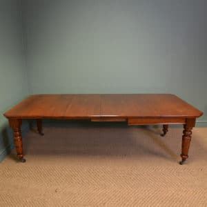 Large Victorian Walnut Antique Extending Dining Table