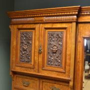 Magnificent 'Burr' Pollard Oak Arts & Crafts Antique Wardrobe