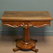 Elegant Antique Victorian Figured Mahogany Side / Tea / Games Table.