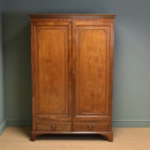 Georgian Mahogany Characterful Antique Double Wardrobe