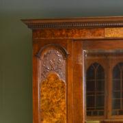 Spectacular Victorian Figured Walnut Antique Double Wardrobe