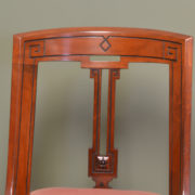 Set Of Six Victorian Mahogany Spoon Back Antique Dining Chairs
