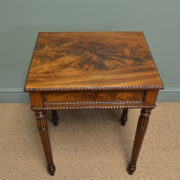 Spectacular Gillows Design Antique Figured Mahogany William IV Side / Writing Table