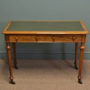 High Quality Victorian Walnut Antique Side / Writing Table