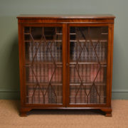 Elegant Edwardian Mahogany Astragal Glazed Antique Bookcase