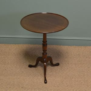 High Quality Edwardian Mahogany Antique Occasional Wine / Lamp Table