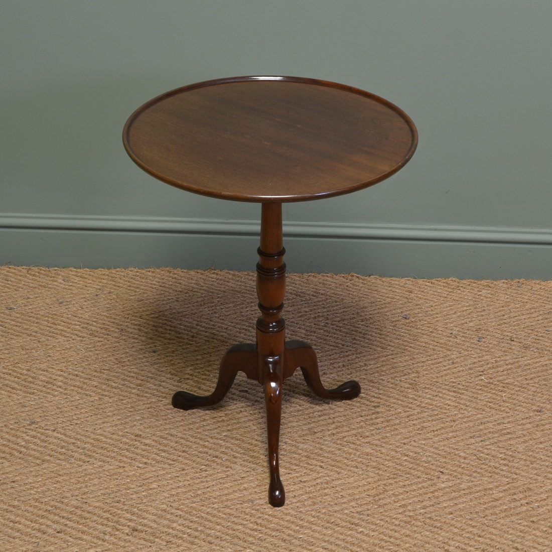 Dish Top Antique Table by John Taylor