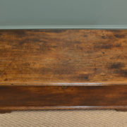 Unusual Country Low Georgian Elm Antique Coffer