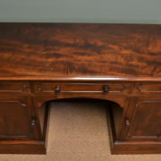 Superb Quality Lambs of Manchester Victorian Mahogany Antique Pedestal Desk