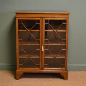 High Quality Edwardian Mahogany Astragal Glazed Antique Bookcase