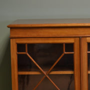 High Quality Edwardian Mahogany Astragal Glazed Antique Bookcase