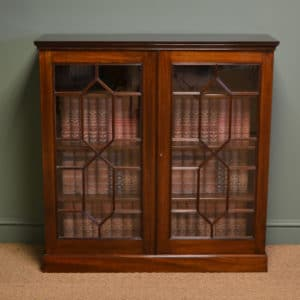 High Quality Victorian Antique Mahogany Astragal Glazed Bookcase