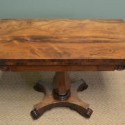 Quality Antique Regency Rosewood Card Table / Console Table