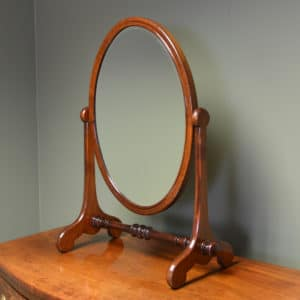Elegant Victorian Mahogany Antique Dressing Table Mirror