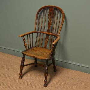 Country House Georgian Oak and Elm Antique Windsor Chair