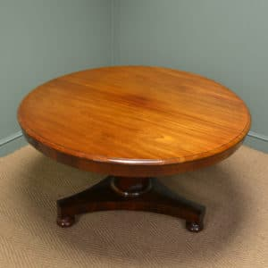 Spectacular Figured Mahogany Victorian Circular Antique Dining Table